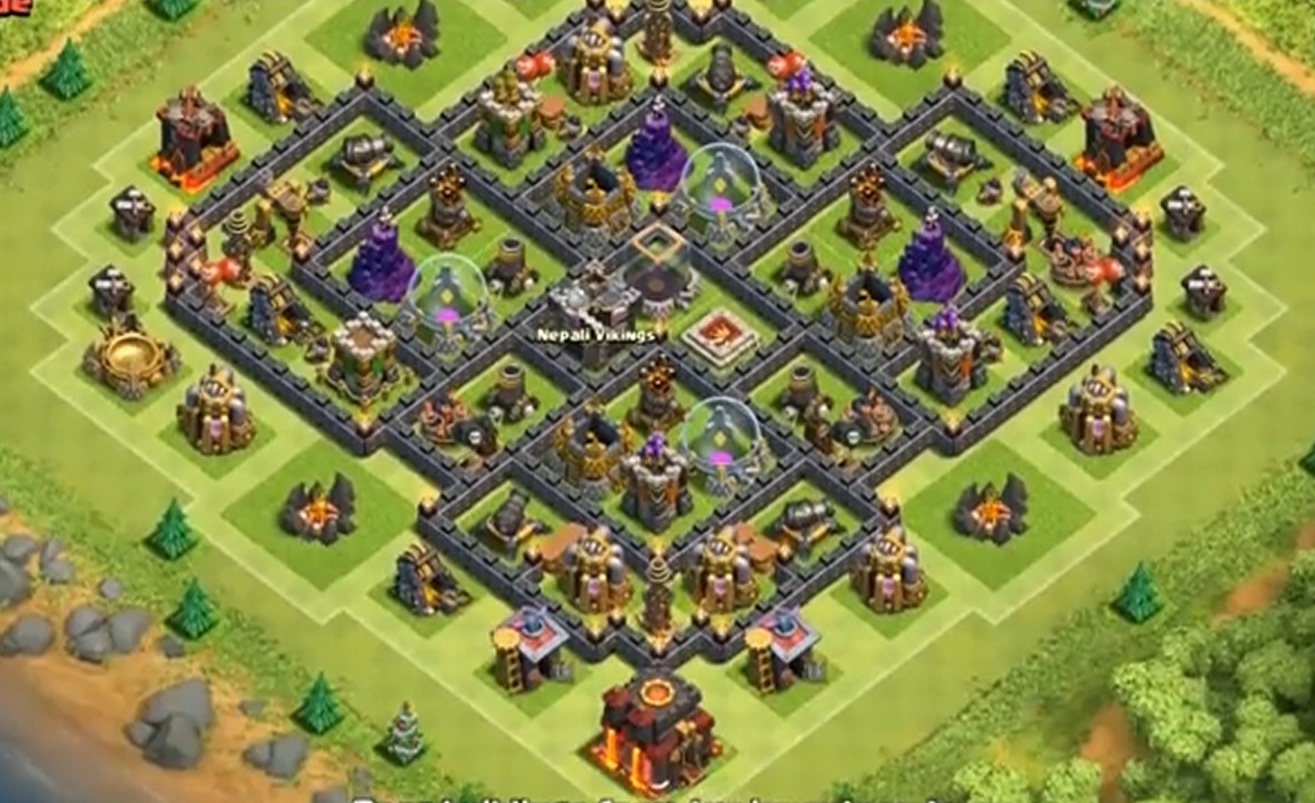 Ратуша 8 лвл clash of clans